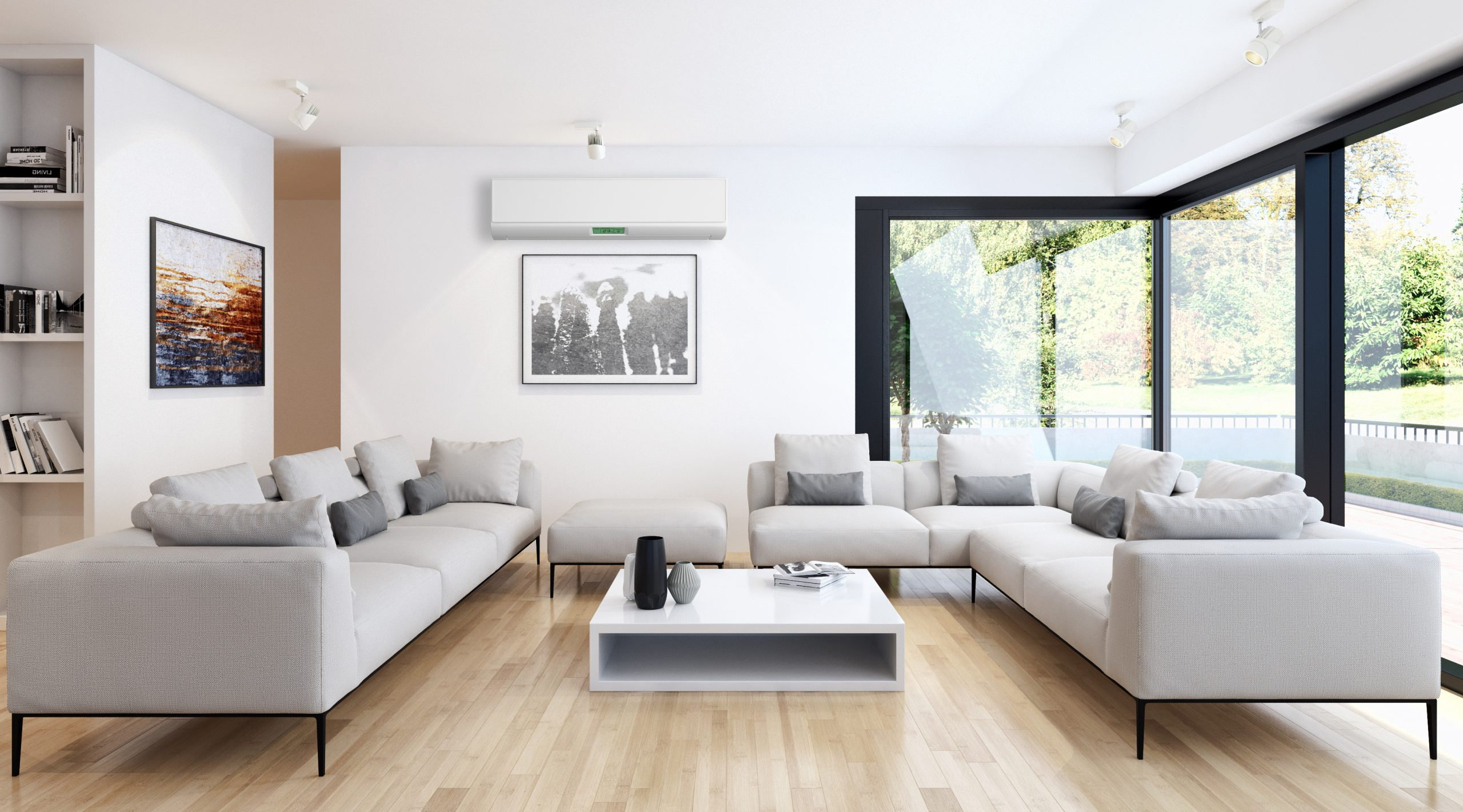 Modern,Bright,Living,Room,Lounge,Interior,With,Air,Conditioning.,3d